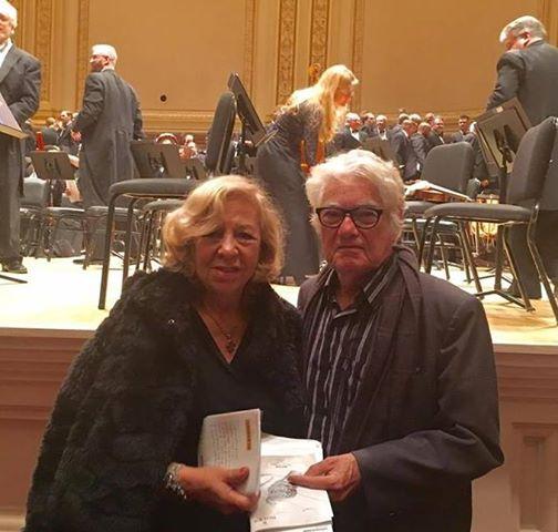 Sempre elegantes, o Prof. Imbassahy e sua esposa Carmem, a quem devemos nossa gratidão pela liberação dos originais da obra que se está restaurando.